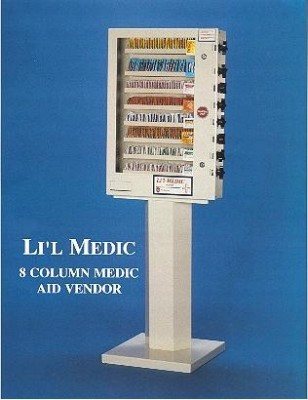 Li'L Famous Medic Aid  8 Column-Condoms-Medical Vending Machine
